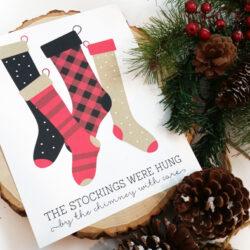 Christmas Stocking Print