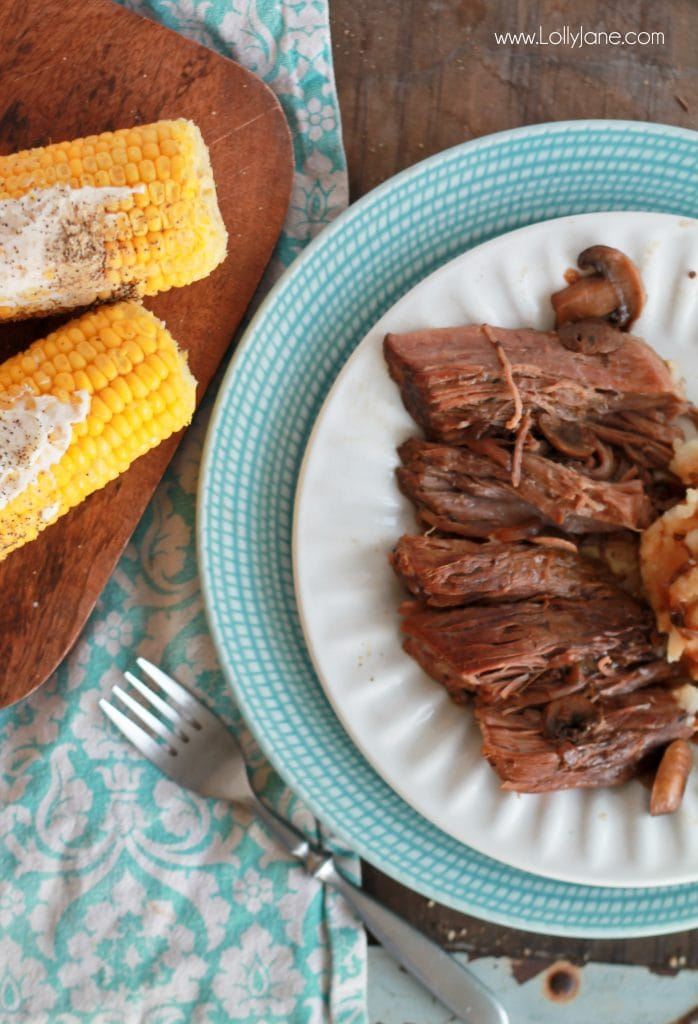 Easy Slow Cooker Juicy Pot Roast