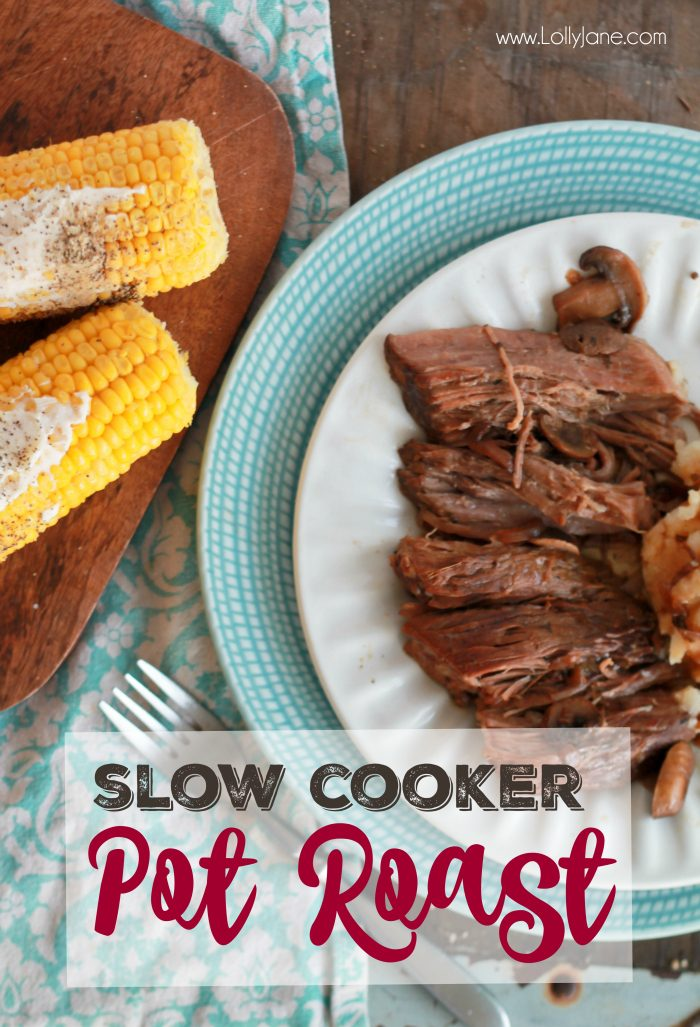 Easy Crock Pot Tavern Style Pot Roast. SO GOOD! Falls off the fork when done... mmmm!