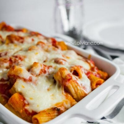 Cheese Rigatoni Recipe