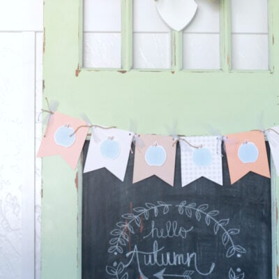 fall pumpkin bunting tutorial