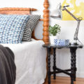 Gorgeous side table makeover! Oooh la la!