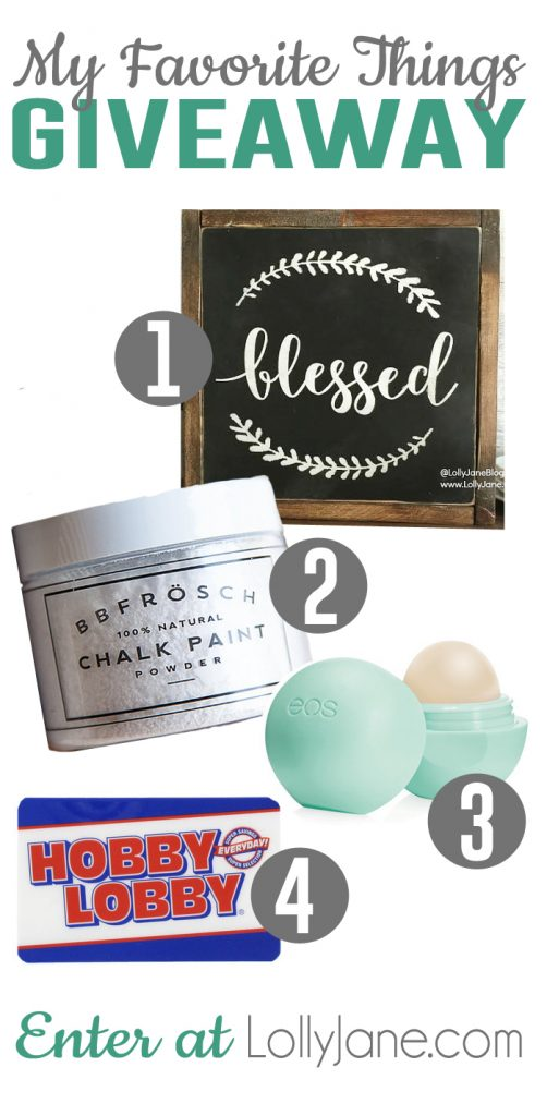 Our Favorite Things Giveaway!!! Enter at LollyJane.com today!