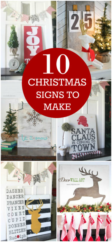 10 Christmas Signs to Make that will leave your house full of holiday cheer!