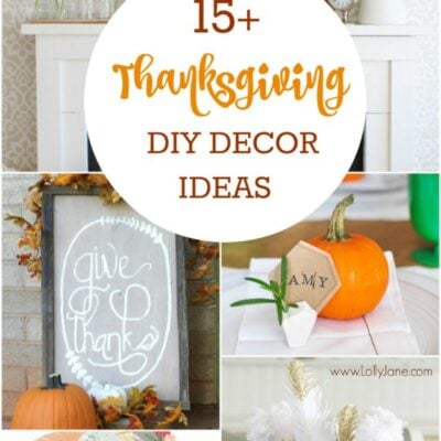 15+ DIY Thanksgiving decor ideas