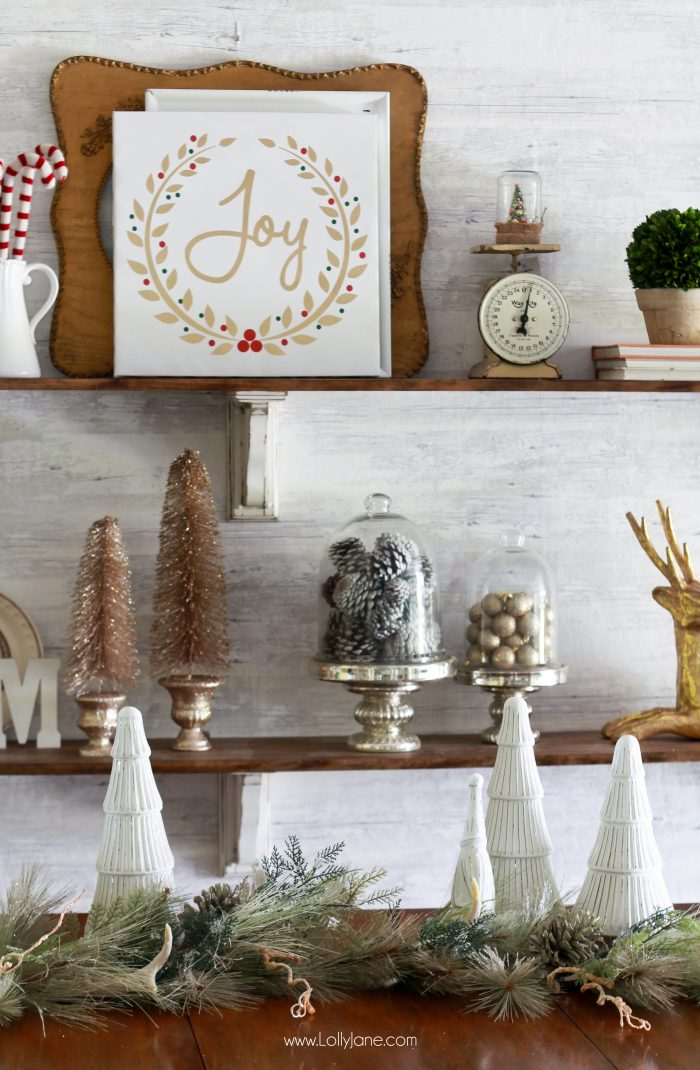 How To Decorate A Red Sofa Living Room: How To Decorate Shelves For Christmas