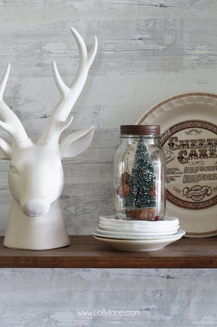 How to decorate your shelves for Christmas, easy and cute ideas!
