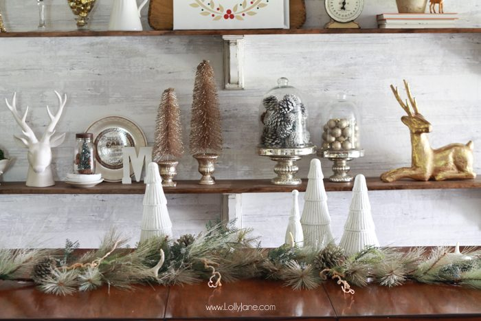How To Decorate Your Shelves For Christmas Easy And Cute Ideas