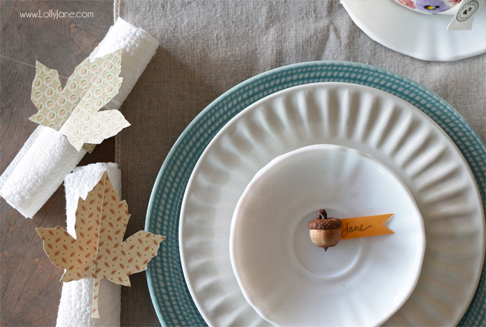 Easy Thanksgiving Dinner Table Setting Ideas