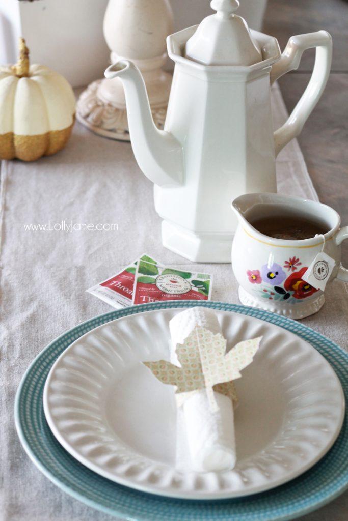 easy thanksgiving dinner table setting ideas lolly jane. Black Bedroom Furniture Sets. Home Design Ideas