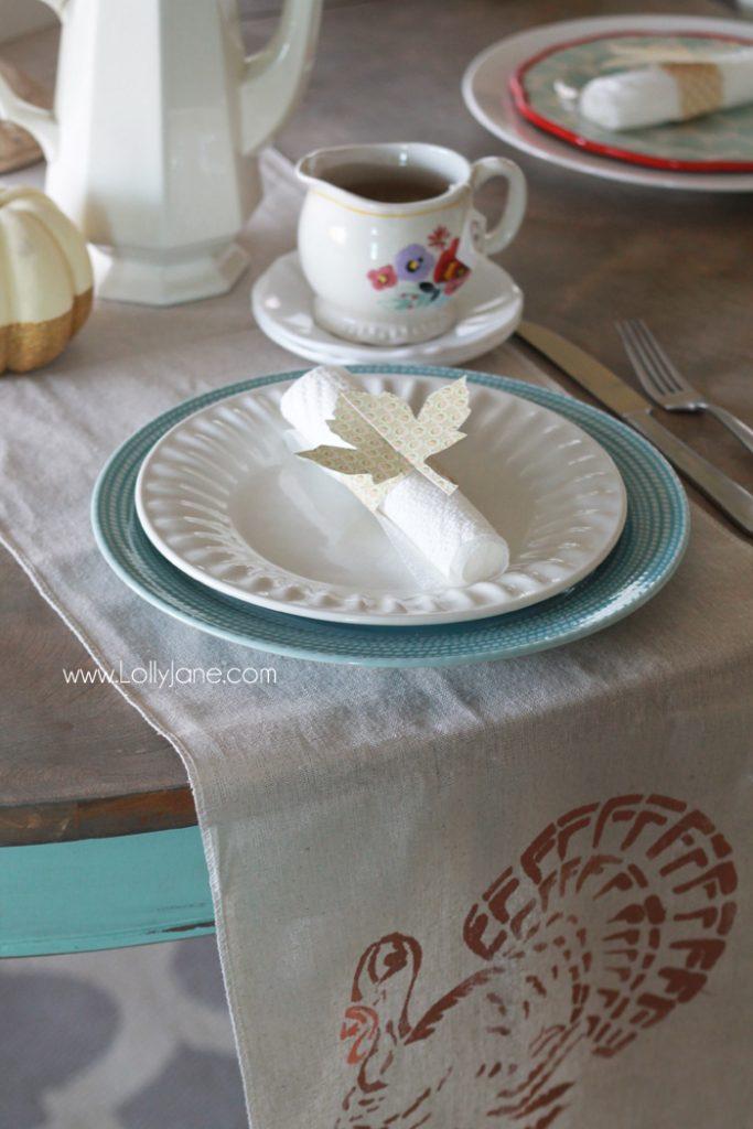 Easy Thanksgiving Dinner Table Setting Ideas