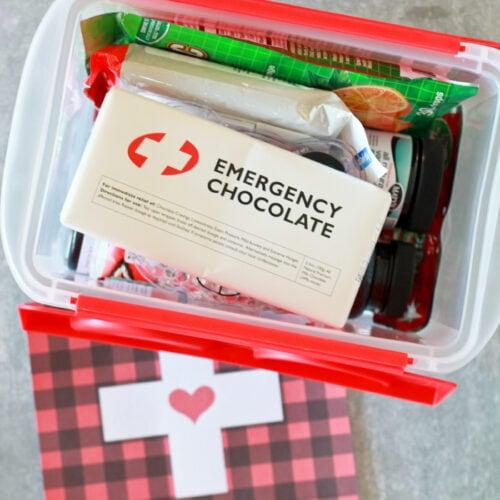 """Sick Kit"" ideas + FREE printable tag"