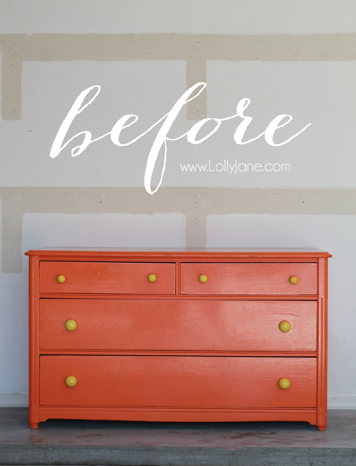 Super easy dresser makeover... click this before to see the beautiful AFTER!