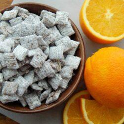 Easy 4 Ingredient Chocolate Orange Muddy Buddies