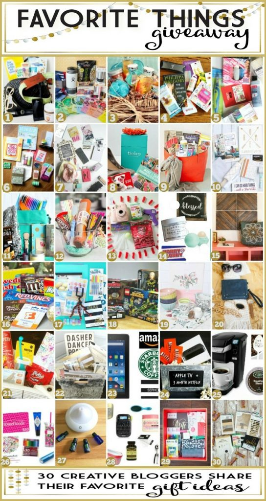 Favorite Things giveaway plus lots of holiday gift ideas!