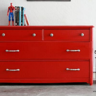 glossy dresser makeover