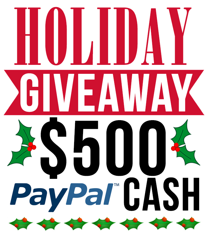 Enter to WIN $500 Paypal CASH, perfect for Christmas shopping! Ends 12/7/15, enter at LollyJane.com