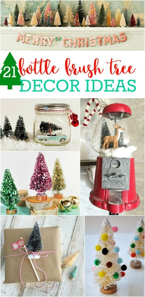 Bottle Brush Tree Decor Ideas