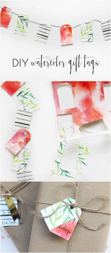 Diy Sweet And Simple Watercolor Gift Tags Lolly Jane