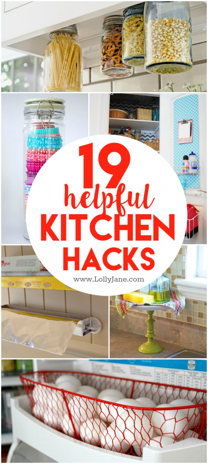 19 helpful kitchen hacks. These kitchen hacks will help make your everyday life a little easier.