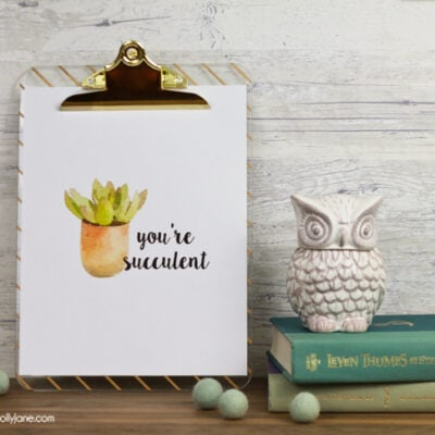 free printable succulent art