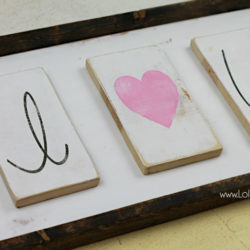i love you wood sign