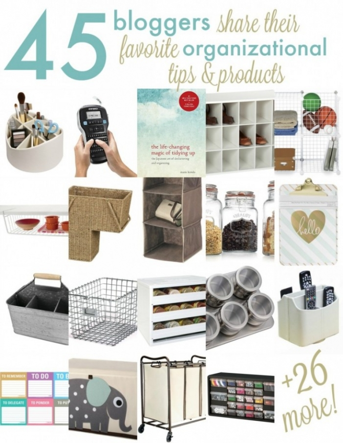 45+ Ideas for AWESOME ways to stay organized this year... PLUS A GIVEAWAY!