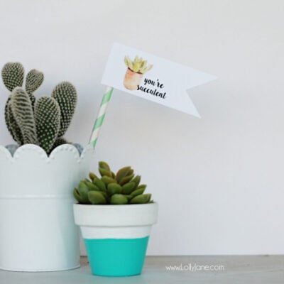 youre succulent free printable tags