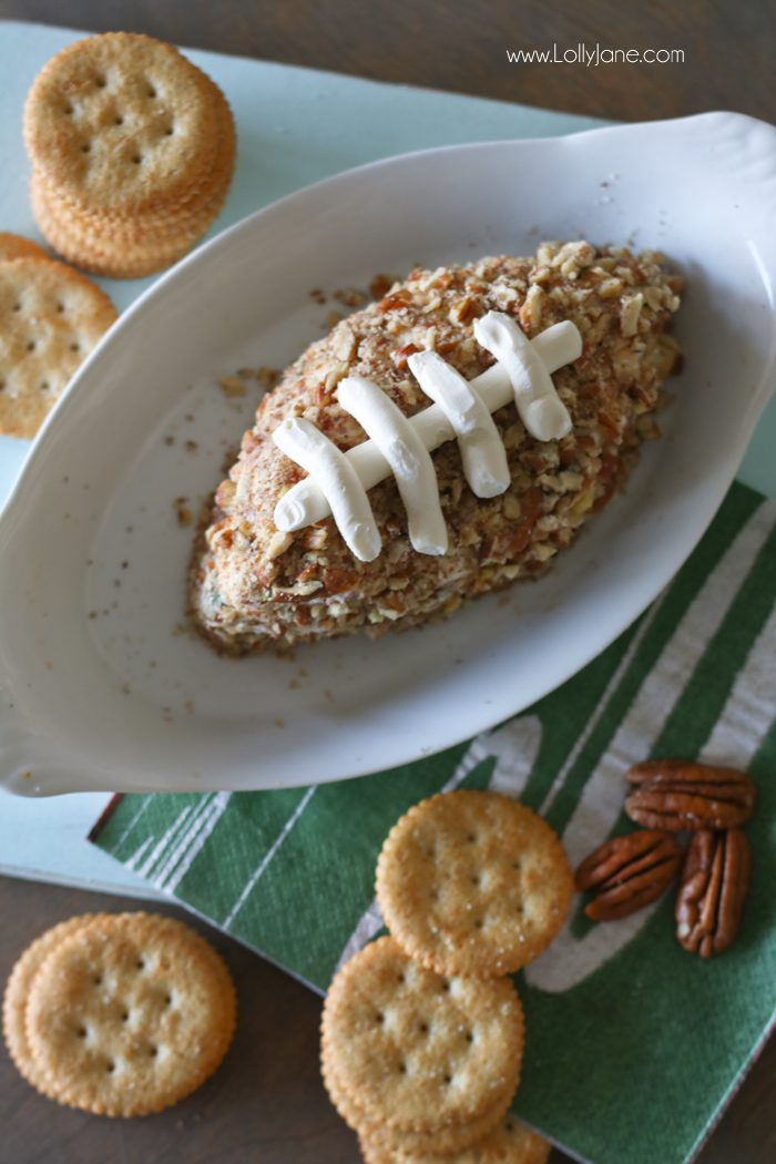 EASY and DANG GOOD Salami Cream Cheese Ball... shaped like a football! PERFECT for the Big GAME DAY Party!