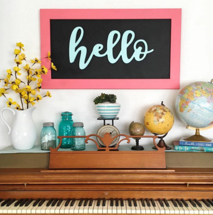 Cute hello wood cutout. Super affordable, great quality! Love this happy hello wood cutout! Shop local, support handmade!