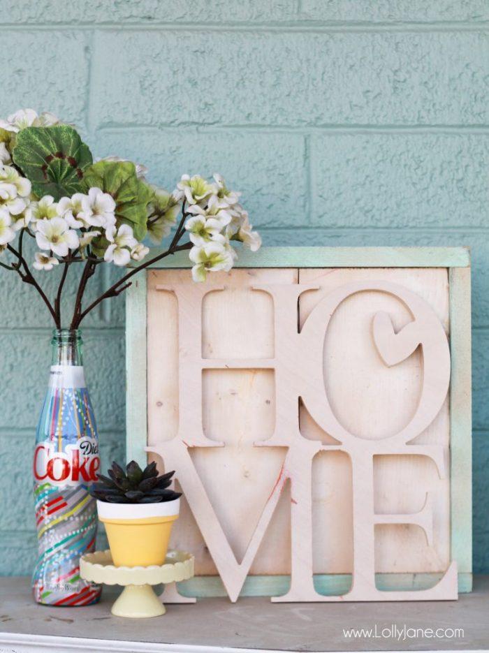 DIY Coke Bottle Vase Key Holder... easy to make and never lose your keys again!