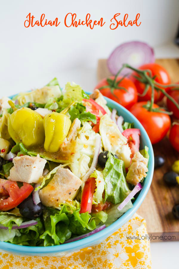 This one dish salad is full of flavor and short on time. Easy Italian Chicken Salad recipe, so tasty and filling. Great Italian Chicken Salad with vegetables lunch or dinner recipe.