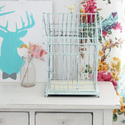 pretty chalk painted birdcage makeover