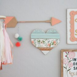 Baby girl nursery gallery wall