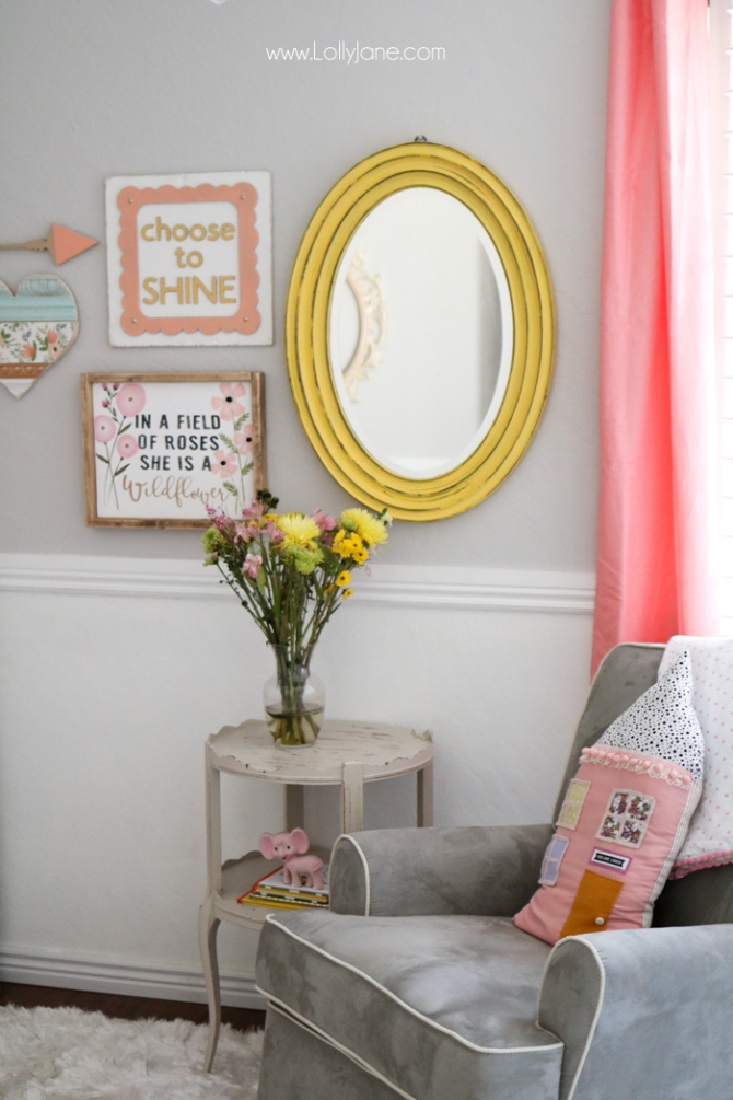Cute Baby Girl Nursery GALLERY WALL Ideas!