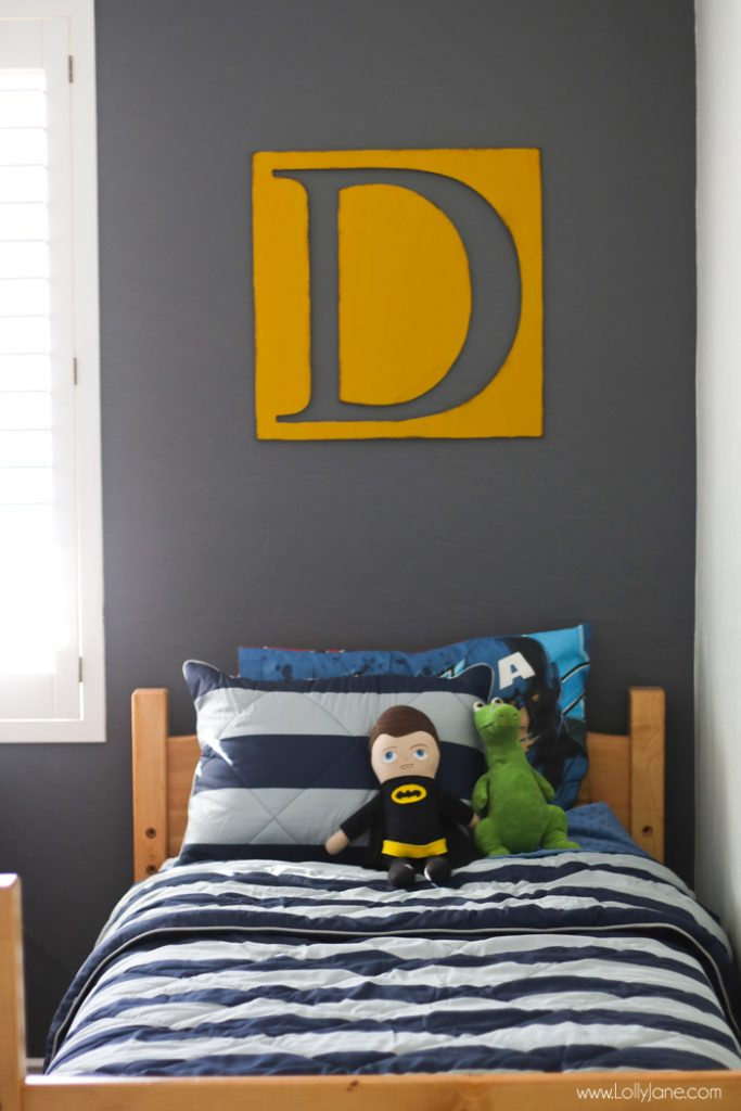 Easy Monogram Wood Cutout Decor... cute for a kids room, nursery or on a gallery wall!