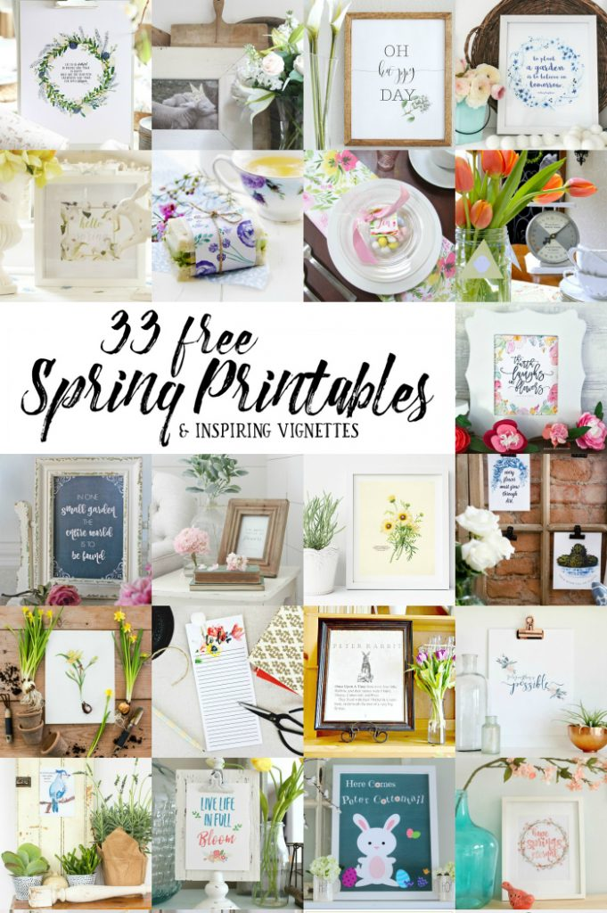 33 spring free printables!! Check out this handful of darling free prints, love this collection of affordable spring decor. Pretty spring prints!