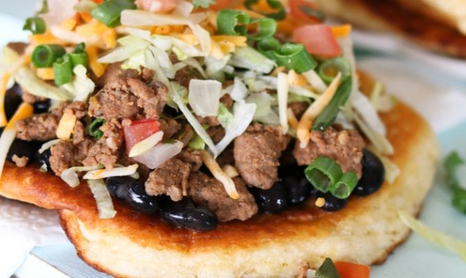 Quick and Easy Beef Navajo Tacos