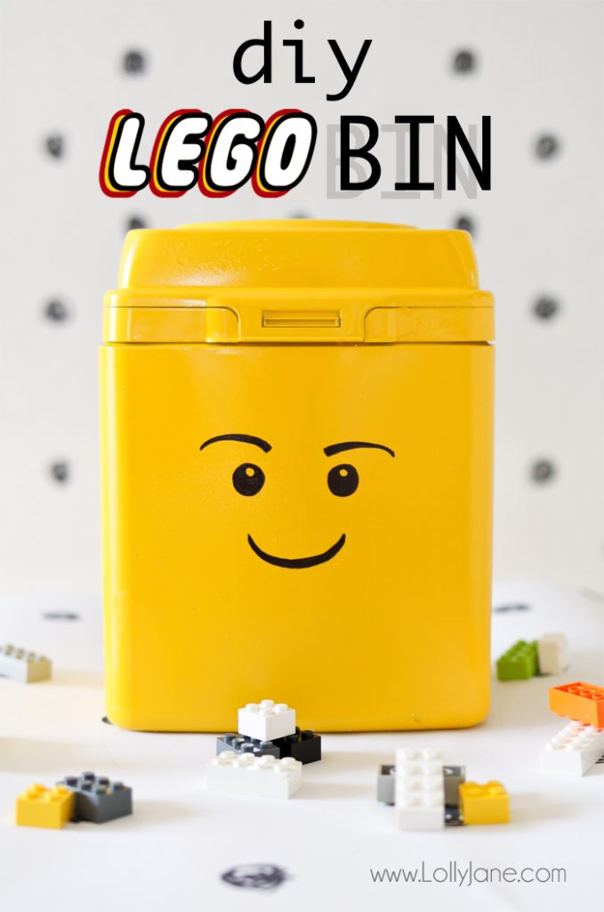 Empty formula container? Upcycle it in just a few steps to cool LEGO storage! Your kids will love this easy tutorial!