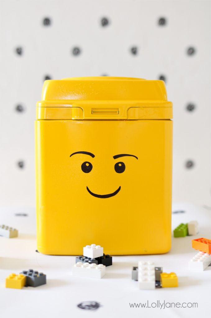 Easy DIY LEGO storage