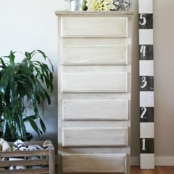 Antique White Dresser Makeover
