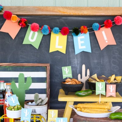 Nacho bar with free printables