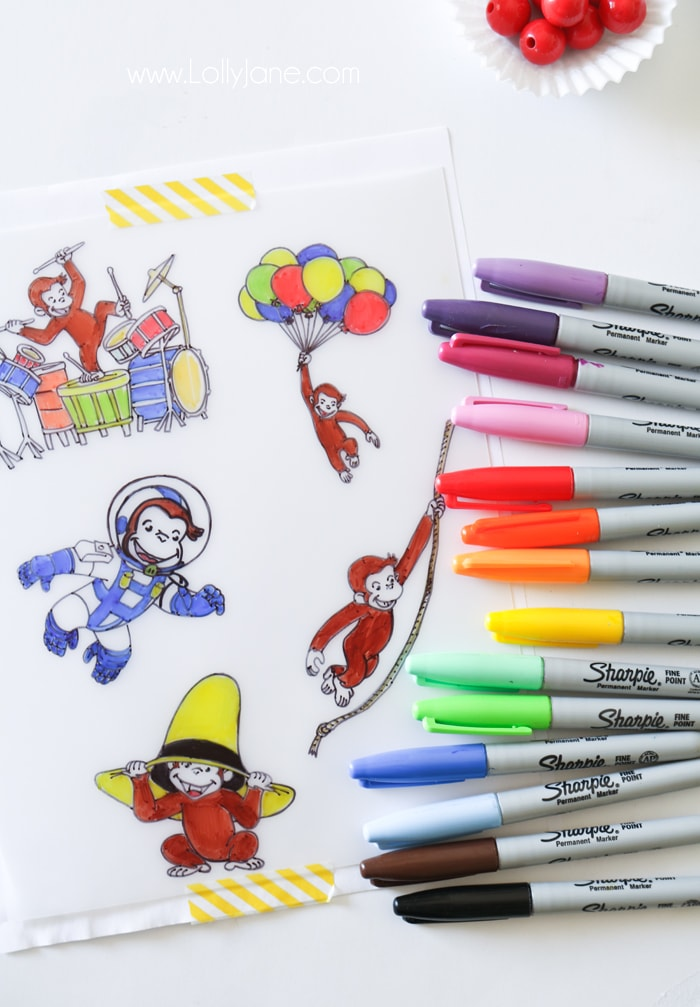 Curious George diy charms