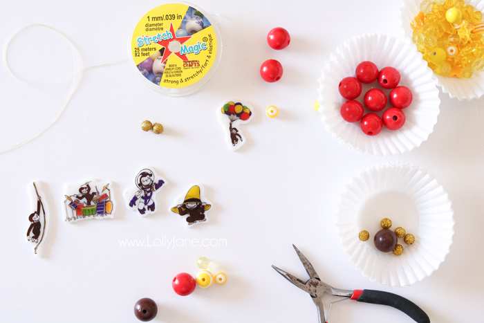 Curious George DIY Charms... perfect to sport on a bracelet or keychain for your own curious little George fan!