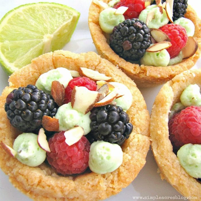 Easy Sugar Cookie Berry Bowls recipe via SimpleAcresBlog.com | YUM!!!
