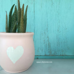 upcycle spray painted flower pot tutorial