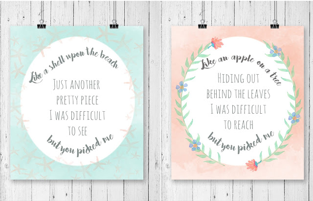 One Fine Frenzy, You Picked Me free printable. Love this printable home decor you picked me free print!
