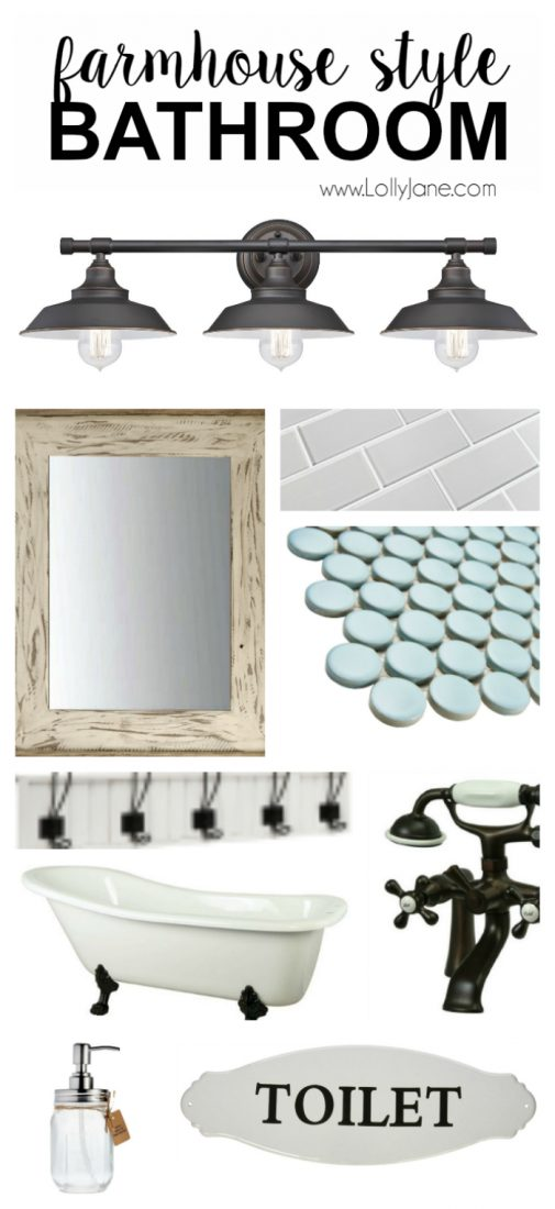 Farmhouse Style Bathroom Decor : Farmhouse style decor lolly jane