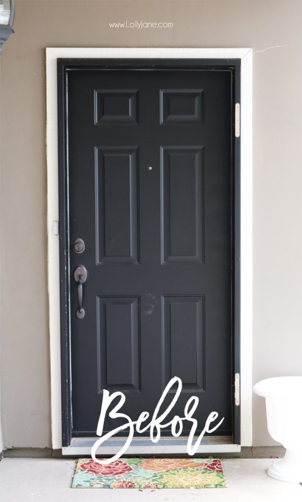 ++BEFORE++ Easy Springy Porch Refresh... love this Door Makeover! Fast outdoor makeover idea, really cute home decor ideas!