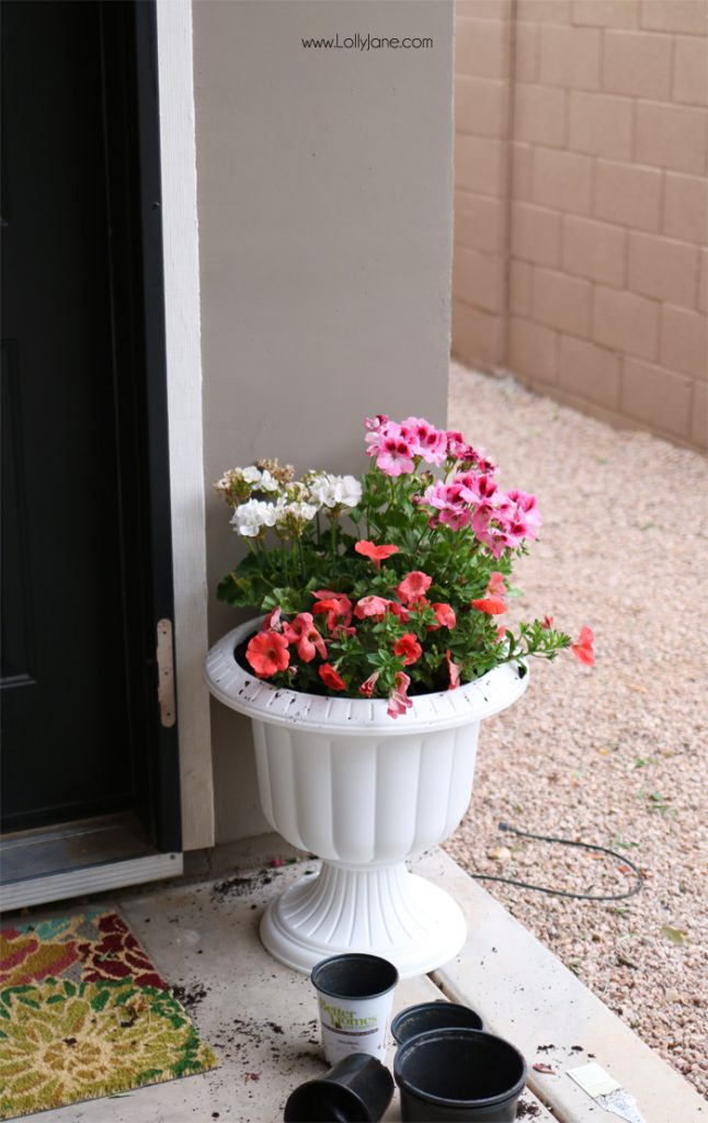 Easy Springy Porch Refresh... love this Door Makeover!